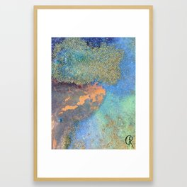 Eternal Well Abstract Painting Close Up Photo Framed Art Print