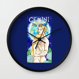 Gemini - Art Nouveau Zodiac Wall Clock