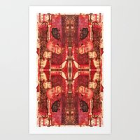 Art Print featuring Border 3 H Pattern 4 by Cie Ja