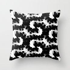 Black energy Throw Pillow