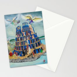 Walking the Tower of Babylon Stationery Cards