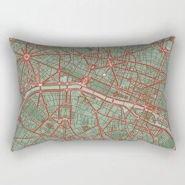 Paris city map pop Rectangular Pillow