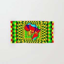 Colorful African Check Pattern Abstract Print Hand & Bath Towel