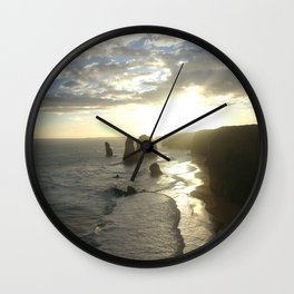 Dusk falls over the Great Southern Ocean Wall Clock
