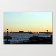 Sunset on the Hudson River Canvas Print