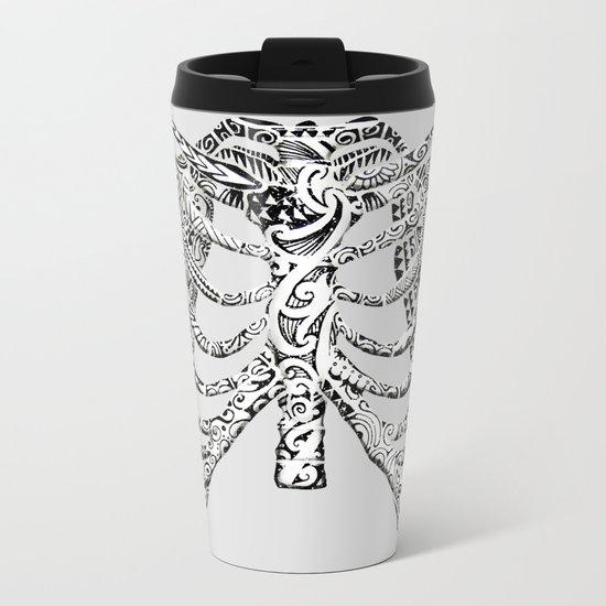 Ribcage Tattoo Metal Travel Mug