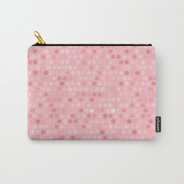 Shades Of Pink Polka Dot Pattern Carry-All Pouch