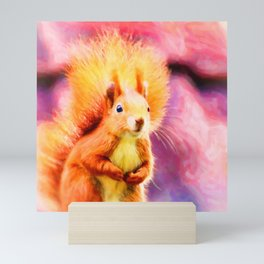 squirrel digital oil paint dopstd Mini Art Print