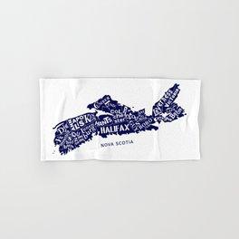 Nova Scotia Map Hand & Bath Towel