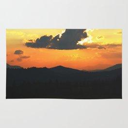 Mountain sunse Rug