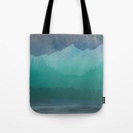 Ombre Mountainscape (Blue, Aqua) Tote Bag