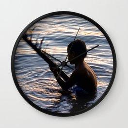 THAILAND - Koh Pangan   Travel   Sea   Children   Nature   Ocean   Dusk   Summer   Photography  Wall Clock