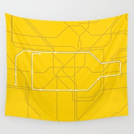 London Underground Circle Line Route Tube Map Wall Tapestry