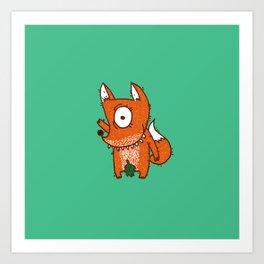 Cyclope Foxes Art Print