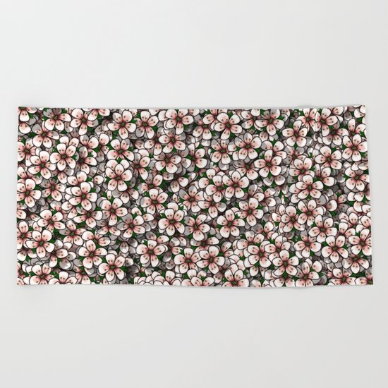 Cherry Blossom Beach Towel