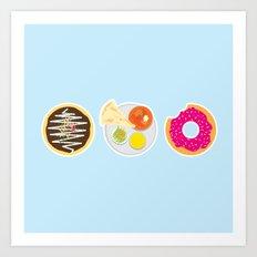 3 Food Staples Art Print