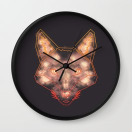 Starry Fox Wall Clock
