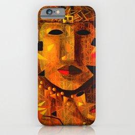 Indigenous Inca Tribal Sapa Inca, Son of the Sun portrait painting by Ortega Maila iPhone Case