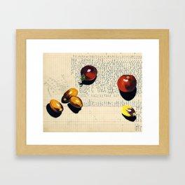 Heirloom Tomatoes in Gouache Framed Art Print