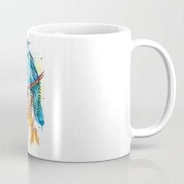 Kowhai Tui and Fantail Coffee Mug