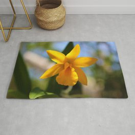 Yellow Orchid Rug