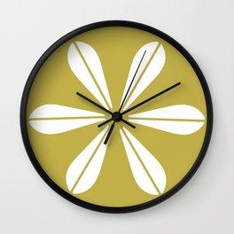 LOTUS MINIMAL - olive. Wall Clock