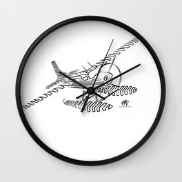 Flying Floating Lines Wall Clock