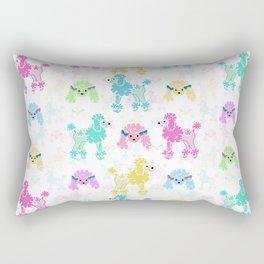 Pastel Poodles Rectangular Pillow