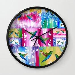 Hummingbird Cushion Wall Clock
