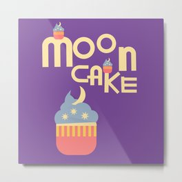Moon Cake Metal Print