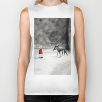 tame impala Biker Tanks featuring Can't Tame the Wolf by Caroline Cook