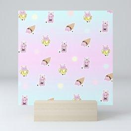 Random Rice ball bunny Mini Art Print