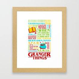 Granger Things Framed Art Print