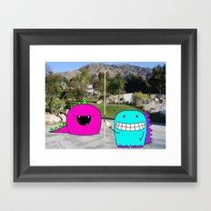 Monster Tetherball Framed Art Print