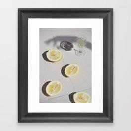 Champagne & Lemons Framed Art Print