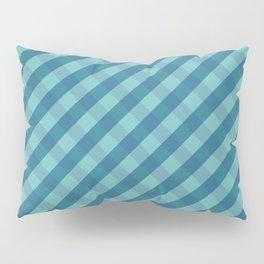 Blue plaid Pillow Sham