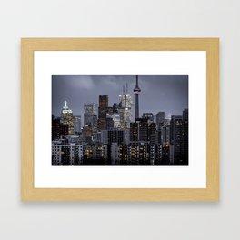 City night ville Framed Art Print