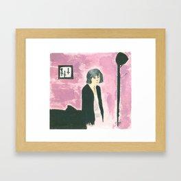 where i  Framed Art Print