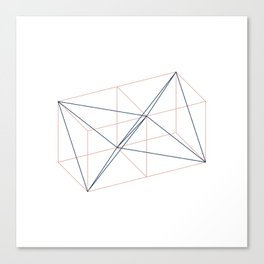 #346 Two tetrahedrons in adjacent cubes – Geometry Daily Canvas Print