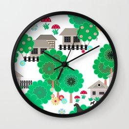 Magic garden Wall Clock