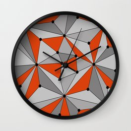 Abstract geometric pattern - orange and gray. Wall Clock