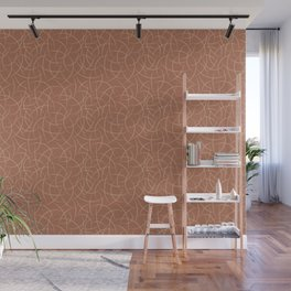 Ligonier Tan SW 7717 Abstract Crescent Shape Pattern on Cavern Clay SW 7701 Wall Mural