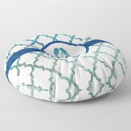 Lobster: Tropical Water Moroccan Pattern Floor Pillow