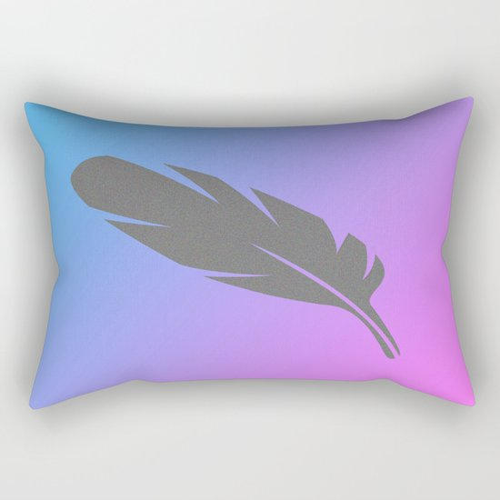 Feather on Gradient Rectangular Pillow