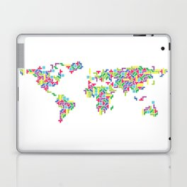 Tetris world (white one) Laptop & iPad Skin