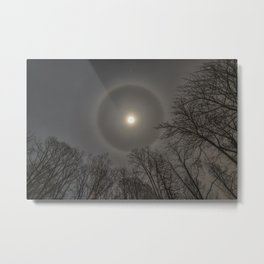 Moon Halo in the forest Metal Print