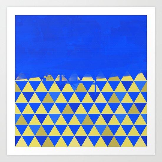 Triangle Dip Blue Art Print