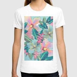 Aqua Ginger Alohas T-shirt