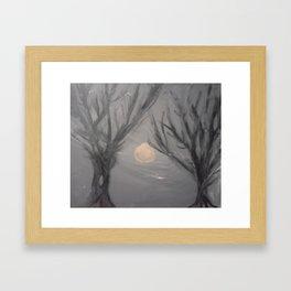 Creepy Little Trees Framed Art Print