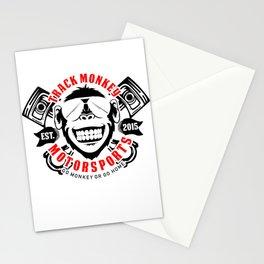 Track race monkey Stationery Cards